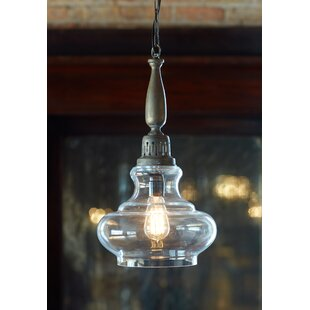 Melrose International 1-Light Bell Pendant