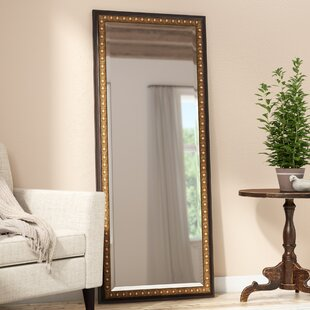 Compare Dark Brown Wood Beveled Wall Mirror By Darby Home Co