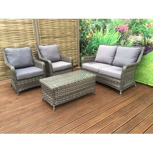 Mary 4 Seater Rattan Sofa Set By Hokku Designs
