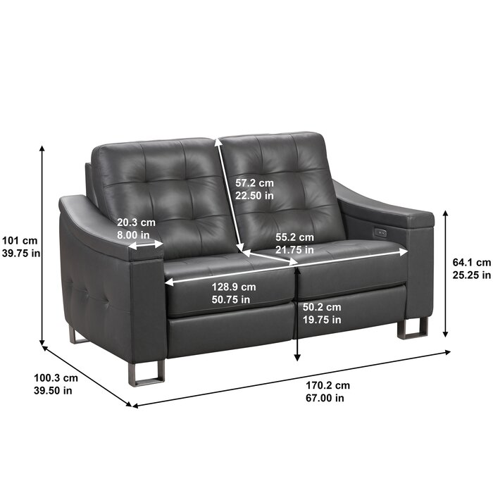 Terrific Franka Genuine Leather Reclining Loveseat Onthecornerstone Fun Painted Chair Ideas Images Onthecornerstoneorg