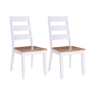 East Orange Solid Wood Dining Chair (Set Of 2) By Beachcrest Home