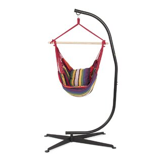 Belleze Cotton Chair Hammock with Stand