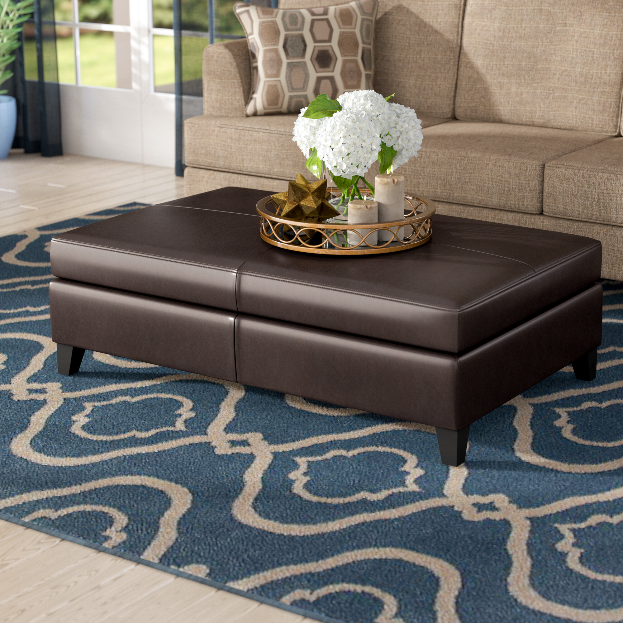 Brilliant Fordbridge Storage Ottoman Gmtry Best Dining Table And Chair Ideas Images Gmtryco