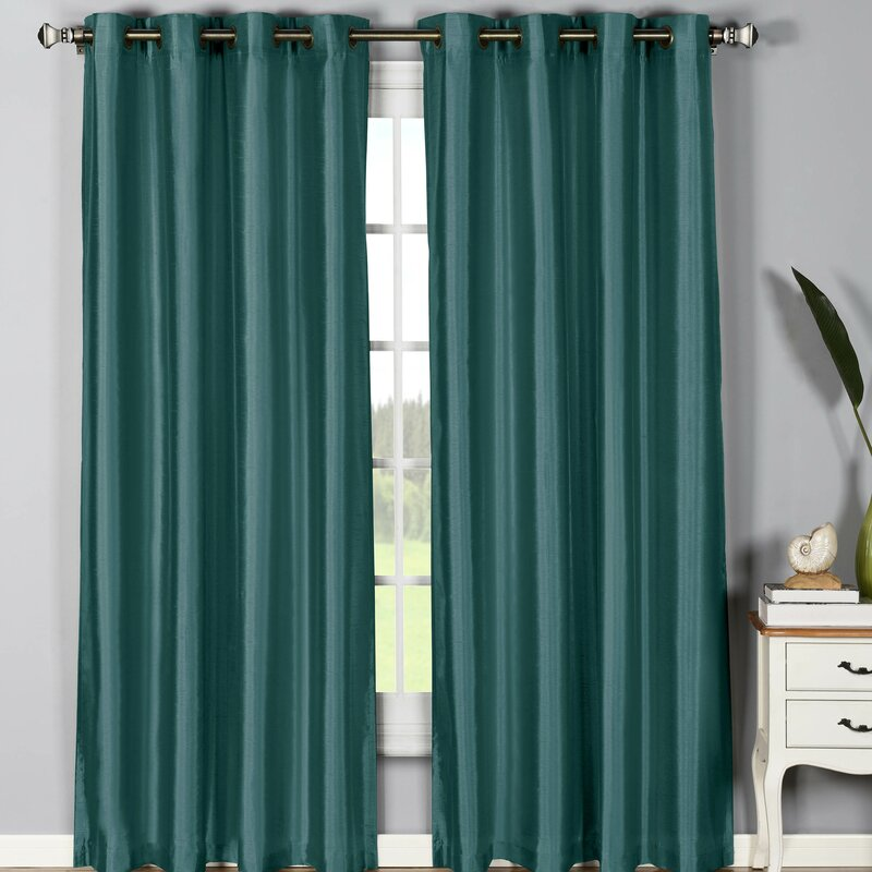 Window Elements Jane Solid Sheer Grommet Curtain Panels Reviews