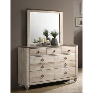 Gracie Oaks Manzano 7 Drawer Dresser with Mirror