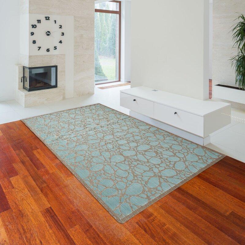 floorita innen au enteppich fiore in aquamarin braun. Black Bedroom Furniture Sets. Home Design Ideas