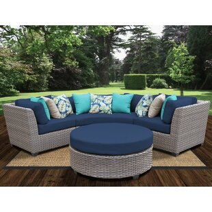 Meeks 4 Piece Sectional Seating Group with Cushions by Rosecliff Heights