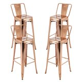 Rhys 30.3 Bar Stool (Set of 4) by Williston Forge