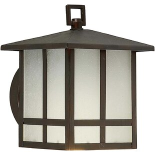 Reviews Loring 1-Light Outdoor Flush Mount By Charlton Home
