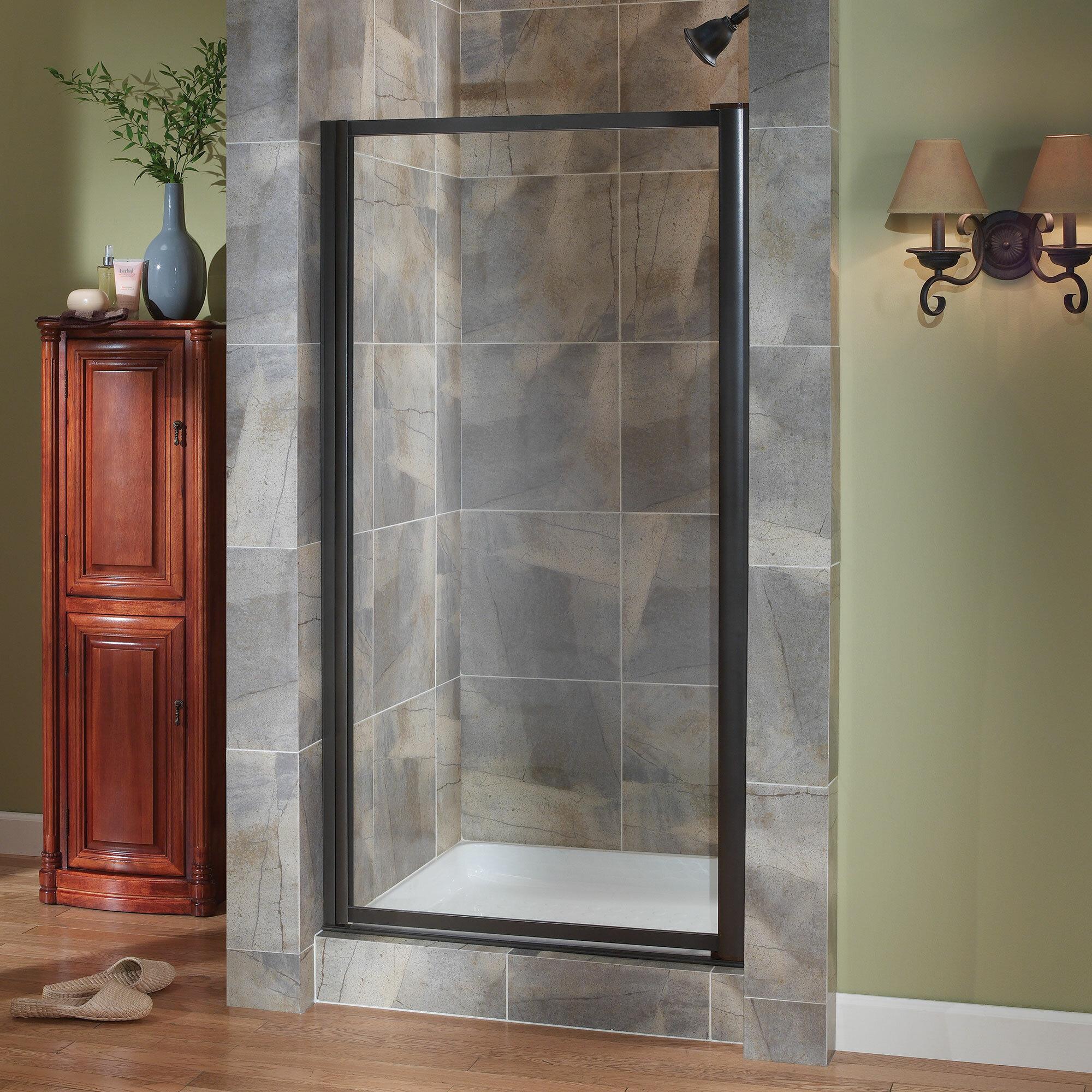 Framed Pivot Shower Doors.Tides 30 X 65 Framed Pivot Shower Door