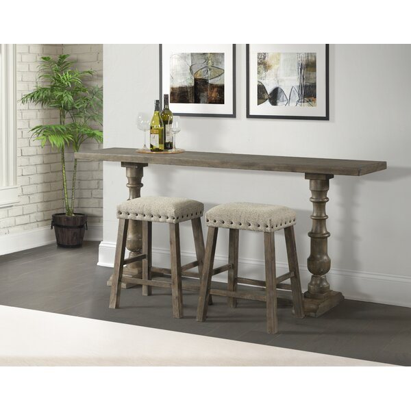 Table Behind Sofa: Gracie Oaks Schweitzer Sofa Pub Table