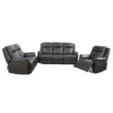 Ardem 3 Piece Faux Leather Living Room Set by Red Barrel Studio®