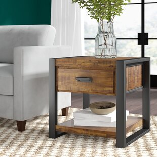Telfair End Table with Storage By Greyleigh