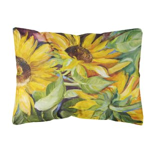 Landon Sunflowers Yellow/Green Indoor/Outdoor Throw Pillow