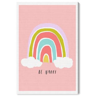 Hesperia Be Happy Rainbow Canvas Art by HoneyBee Nursery