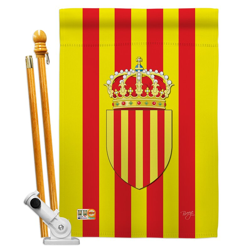 Breeze Decor Catalonia Flags Of The World Nationality Impressions 2 Sided Polyester 40 X 28 In Flag Set Wayfair