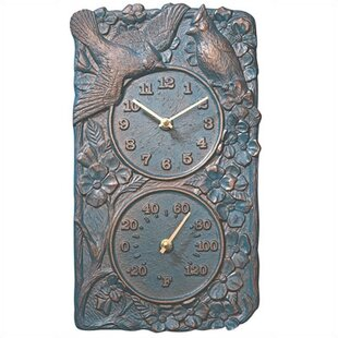 Cardinal Thermometer Wall Clock By Whitehall Products