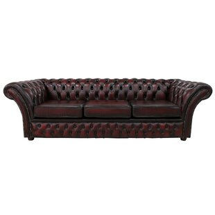 Granger Genuine Leather 3 Seater Chesterfield Sofa By Williston Forge
