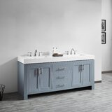 Aniakudo 72 Double Bathroom Vanity Set by Latitude Run®