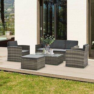 Nantan 6 Seater Rattan Sofa Set By Sol 72 Outdoor