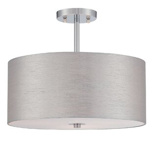 Affordable Price Timaios 3-Light Semi Flush Mount By Mercury Row