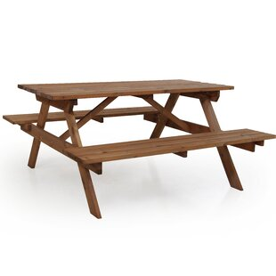 Mellott Wooden Picnic Table By Sol 72 Outdoor