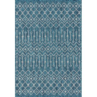 Harlee Blue/Gray Indoor/Outdoor Area Rug