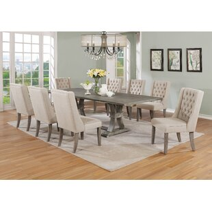 Denville 9 Piece Dining Set Gracie Oaks