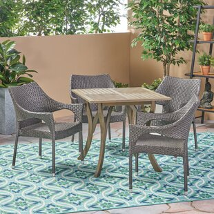 Bungalow Rose Winchell Outdoor 5 Piece Dining Set