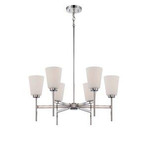 Benson 6-Light Shaded Chandelier  sc 1 st  Wayfair & Nuvo Lighting   Wayfair azcodes.com