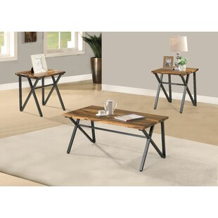 Samuelson 3 Piece Coffee Table Set by 17 Stories