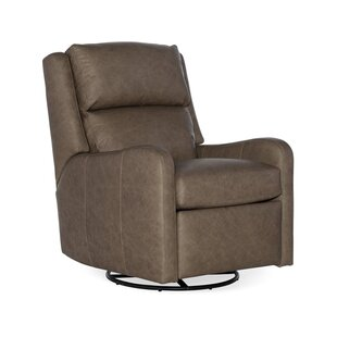 Bradington-Young Willow Leather Power Wall Hugger Recliner with Articulating Headrest