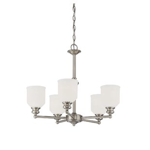 Charlton Home Genevieve 5-Light Shaded Chandelier