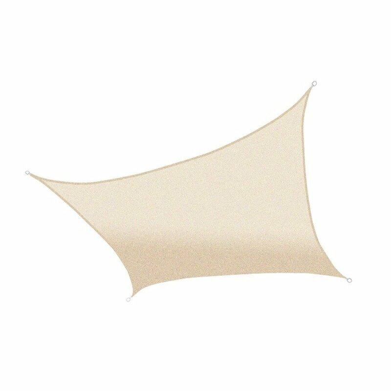 "ALEKO Rectangle 10 x 65"" Shade Sail  Color: Ivory"
