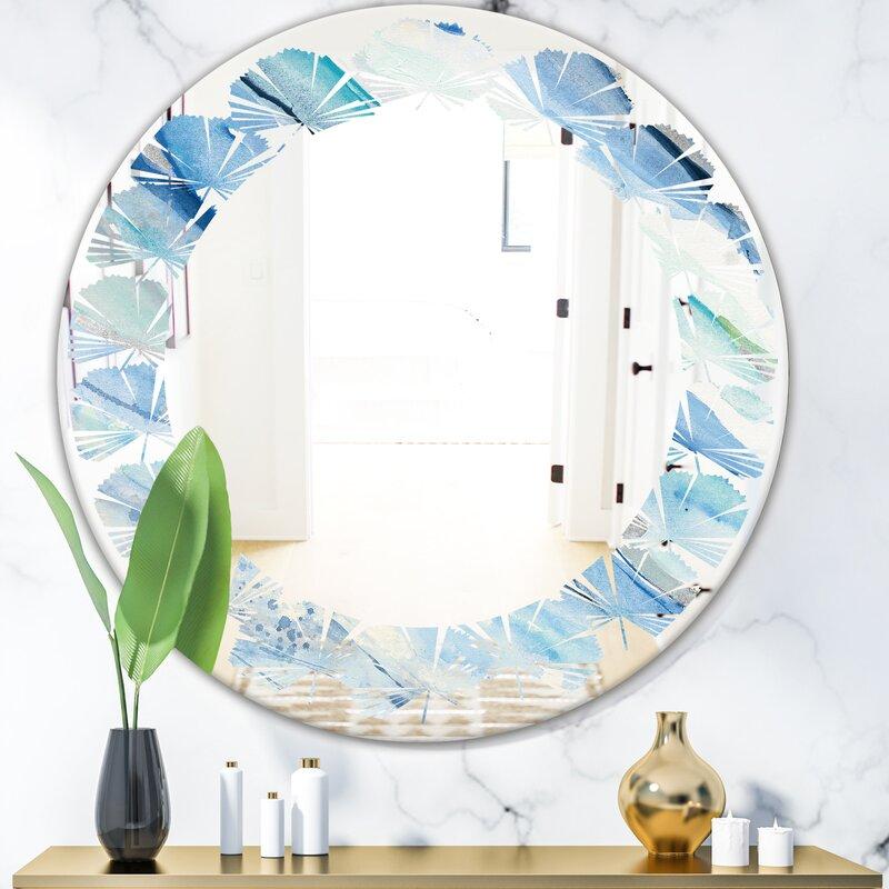 East Urban Home Quatrefoil Luxury Metallic Geometrics V Coastal Wall Mirror