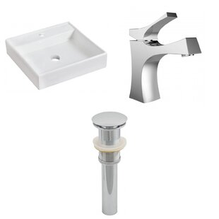 Buying Ceramic Square Bathroom Sink with Faucet By American Imaginations