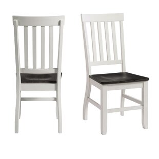 August Grove Reichard Solid Wood Dining Chair (Set of 2)