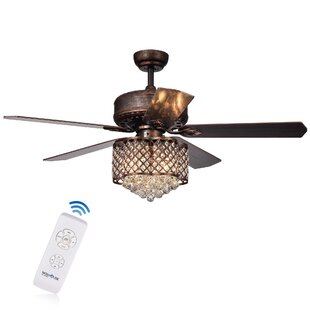 Affordable 52 Colleton 5 Blade Ceiling Fan with Remote By House of Hampton