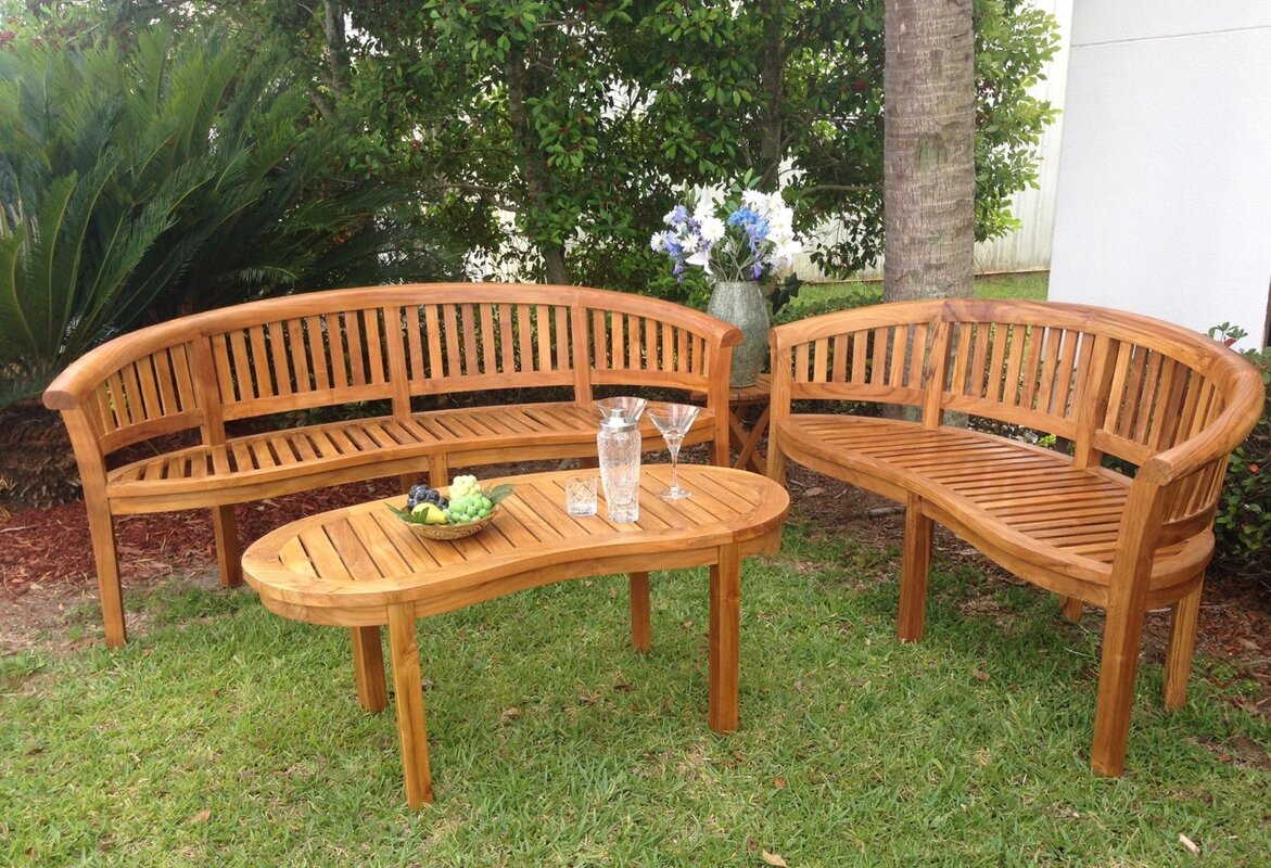 peanut teak garden bench - Garden Furniture Stain
