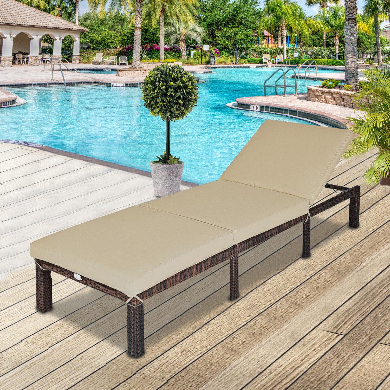 Latitude Run Berik Reclining Chaise Lounge With Cushion Wayfair