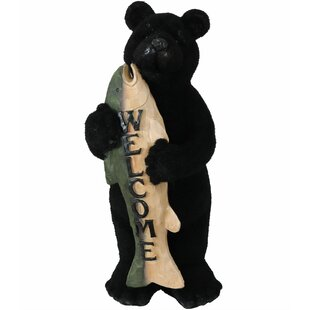 Salas Catch of the Day Bear with Fish Welcome Statue by Loon Peak