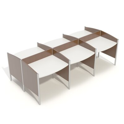 Wave Iii 1105 6 Person Back To Back Workstation Palmieri
