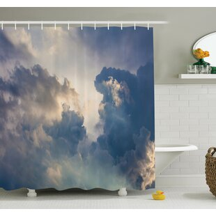Nature Rain Storm Clouds Sky Shower Curtain Set by Ambesonne