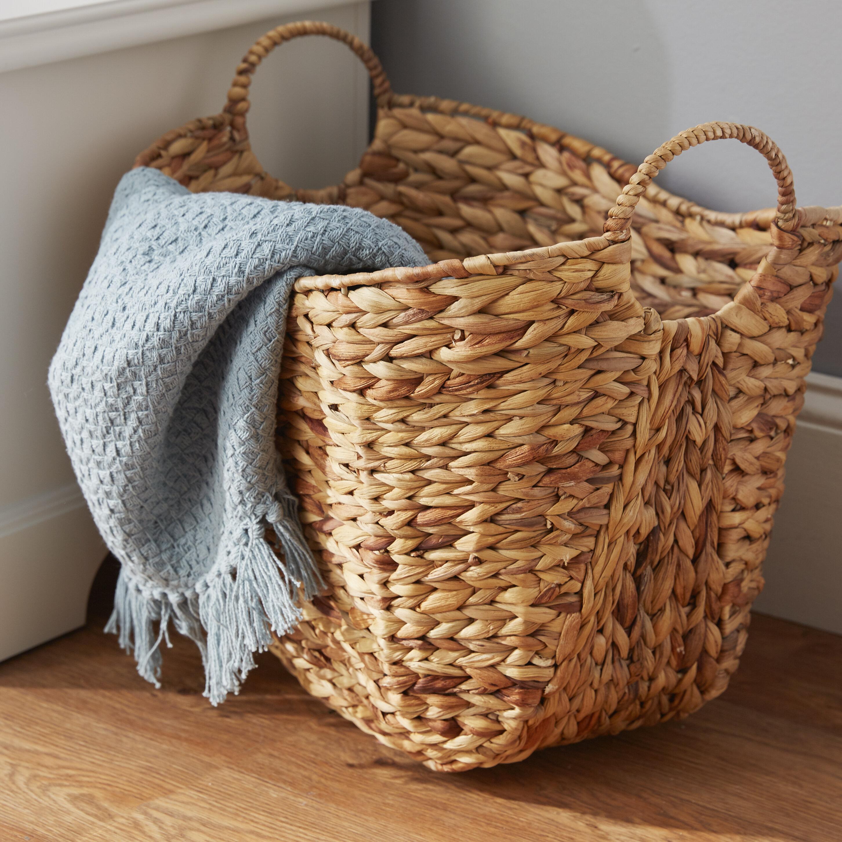 Rosalyn Water Hyacinth Wicker Basket Reviews Joss Main