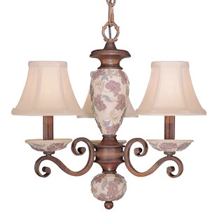Classic Lighting Tapestry 3-Light Shaded Chandelier