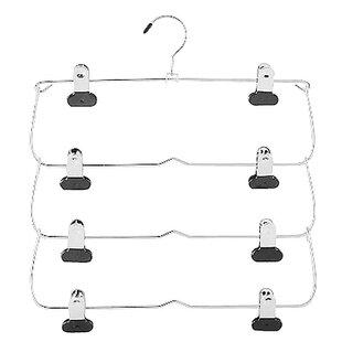 Eakin 4 Tier Folding Skirt Silver Hanger By Rebrilliant