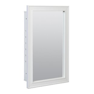 Read Reviews Marc 16.5 x 26.75 Recessed Framed Medicine Cabinet with 3 Adjustable Shelves By Charlton Home
