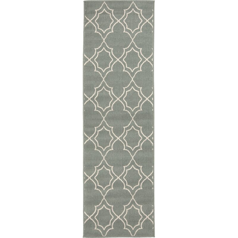 Alcott Hill Amato Power Loomed Green Indoor/Outdoor Area Rug, Size: Runner 23 x 119
