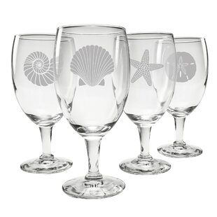 Chabot Footed 4-Piece 16 oz. Glass Goblet Set (Set of 4)