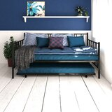 Tyner Twin Metal Daybed & Twin Trundle by Mercury Row®